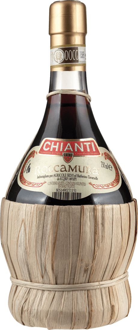 Rotwein Agricole Selvi Roccamura Chianti Fiasco DOCG in der Korbflasche Toskana 11,87? pro l
