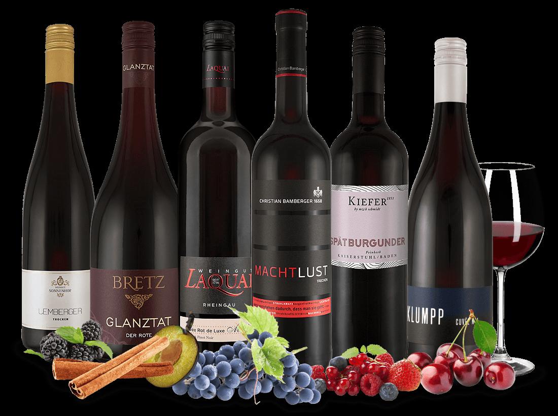 Vorteilspaket Deutsche Rotweine aus beliebten Weinregionen10,00€ pro l