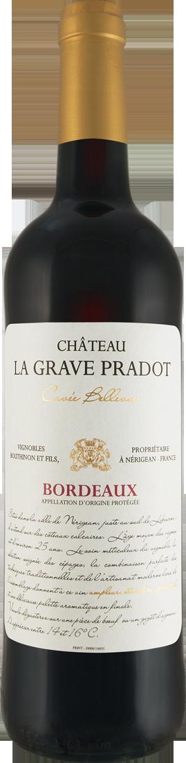 Rotwein Château La Grave Pradot Cuvée Bellevue Bordeaux AOP Bordeaux 7,99€ pro l