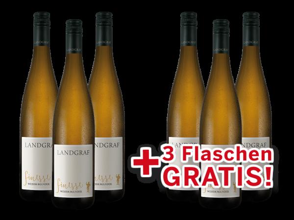 Vorteilspaket 6 für 3 Landgraf Weißburgunder Finesse