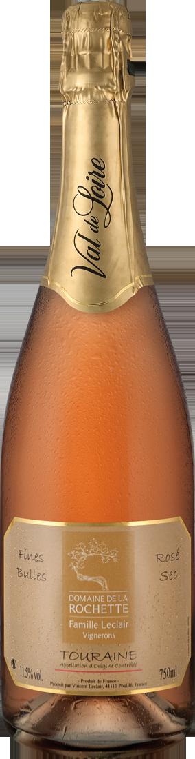 Roséwein Domaine de la Rochette Fines Bulles Rosé Sec Touraine Méthode Traditionelle Loire 10,65? pro l
