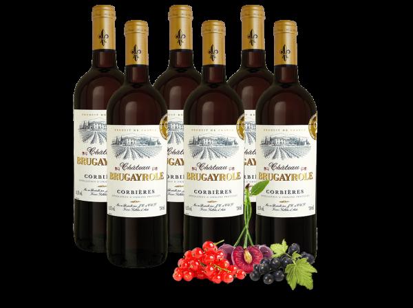 Vorteilspaket 6 Flaschen Château Brugayrole Corbières