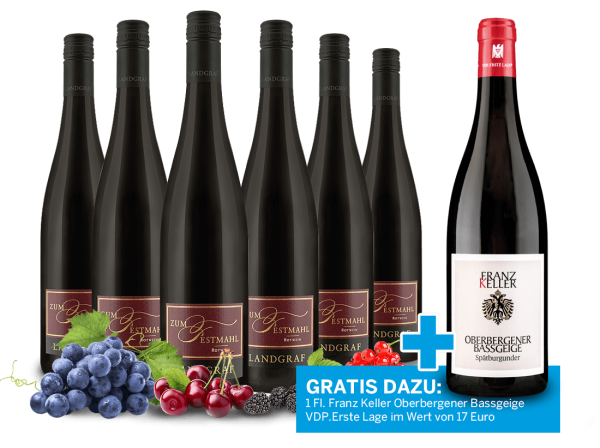 Vorteilspaket Landgraf Rotwein Zum Festmahl und 1 Flasche Franz Keller VDP.Erste Lage gratis