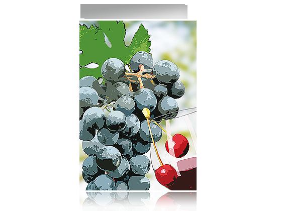 Grußkarte Weingruß