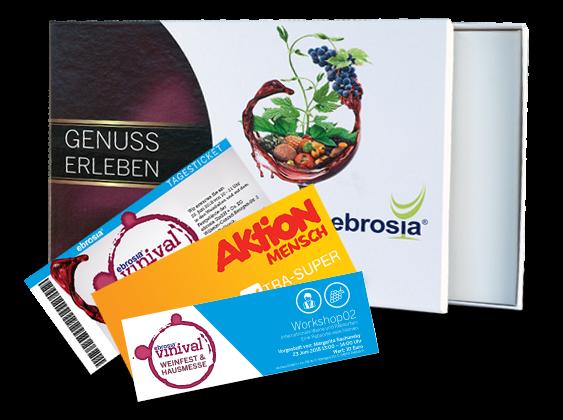 vinival-Geschenkbox: Eintrittskarte, Workshop02 & Xtra-Superlos-Gutschein Aktion Mensch