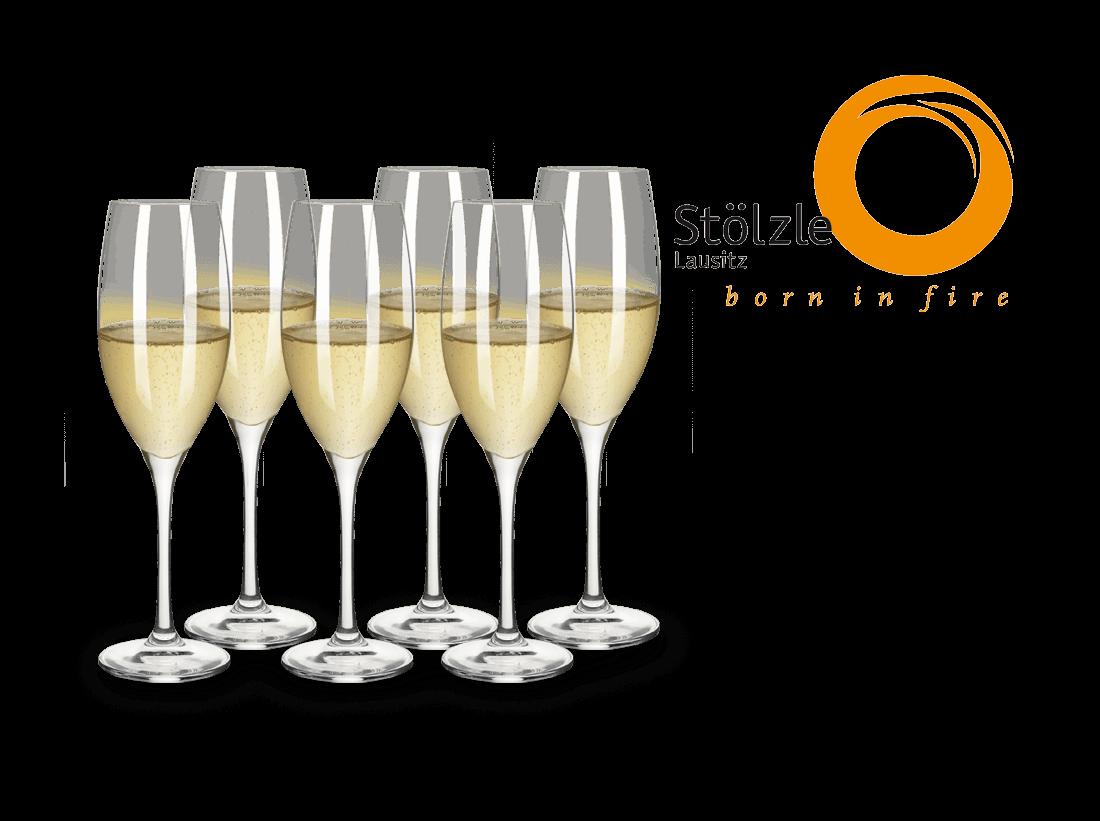 Stölzle Champagnerkelch 6er Set Classic longlife