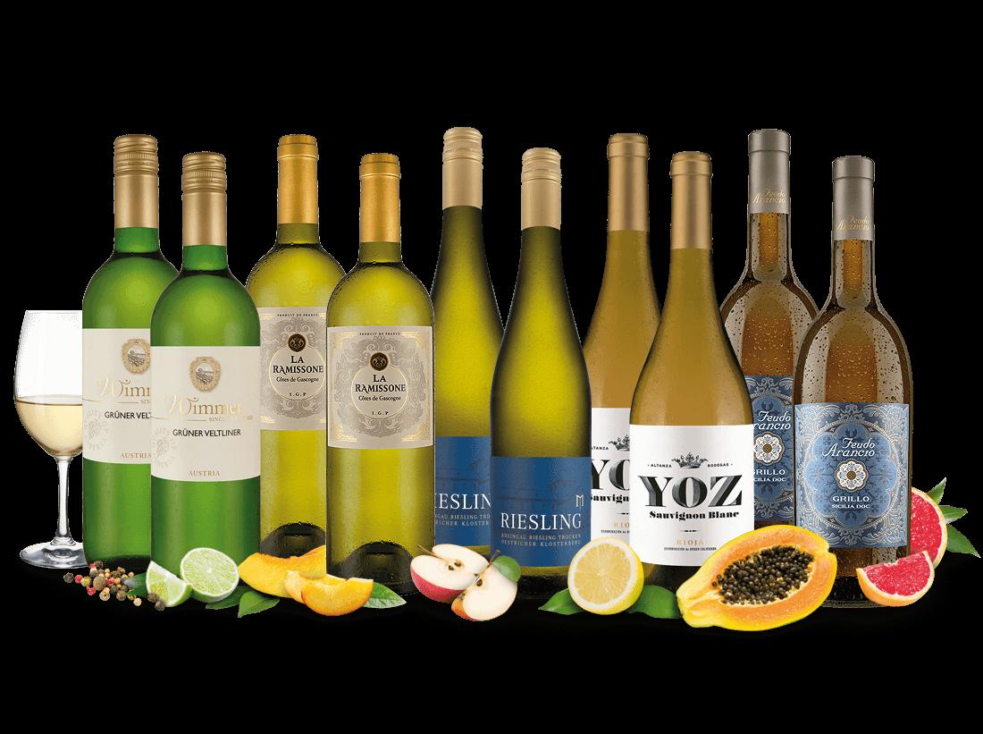 Vorratspaket 10 Flaschen Frühlings-Weißwein-Lieblinge8,00? pro l