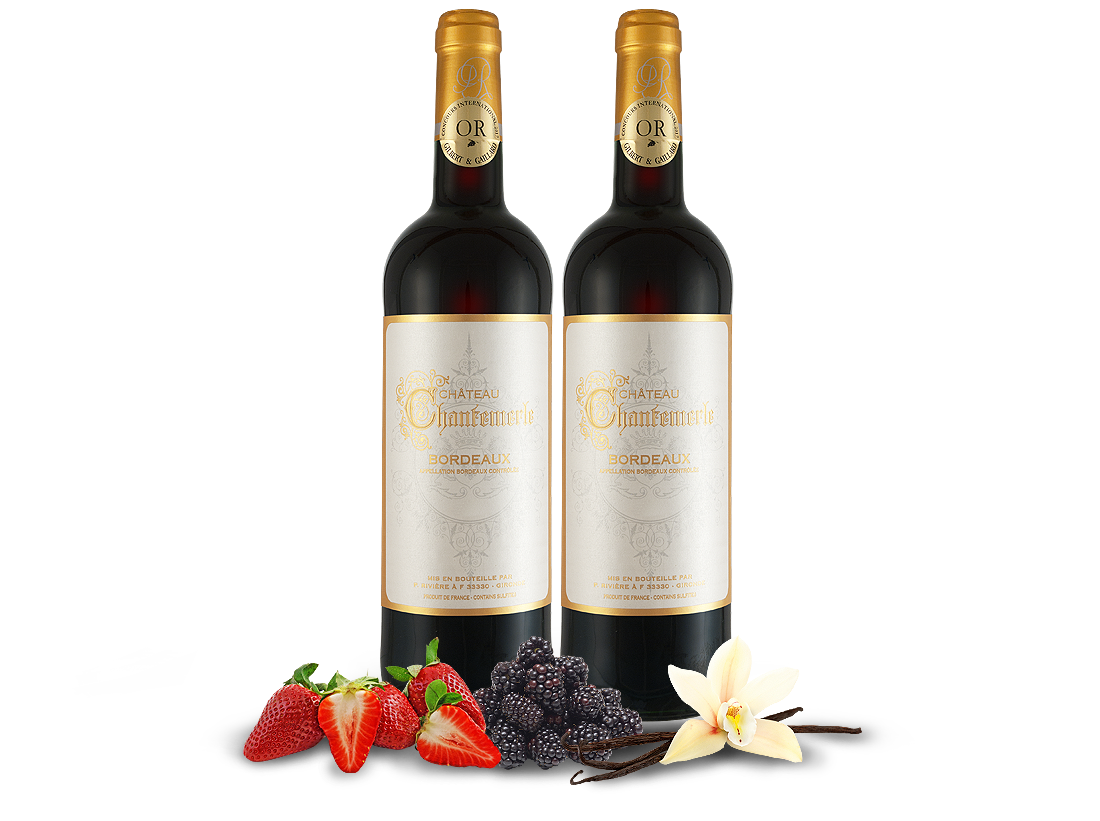 Kennenlernpaket 2 Flaschen Château Chantemerle Bordeaux AOC8,00? pro l