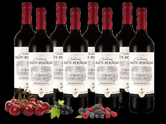 Vorteilspaket 8 Flaschen Château Haut-Pourjac Bordeaux