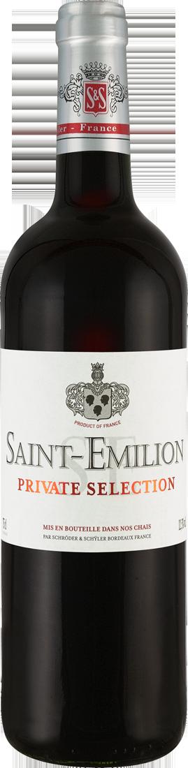Rotwein Schröder & Schÿler Saint-Émilion Private Selection AOC Origine Grand Vin Bordeaux 21,32? pro l