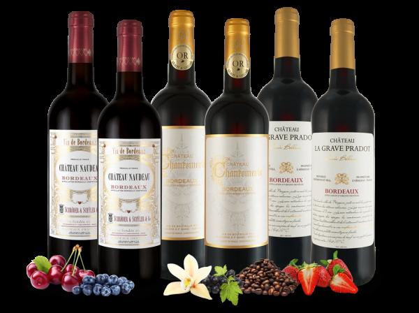 3 TOP-Bordeaux-Weine im Vorteilspaket