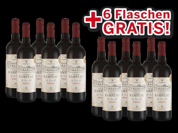 Vorteilspaket 12 für 6 Château Rampeau « La Croix d'Or » Bordeaux