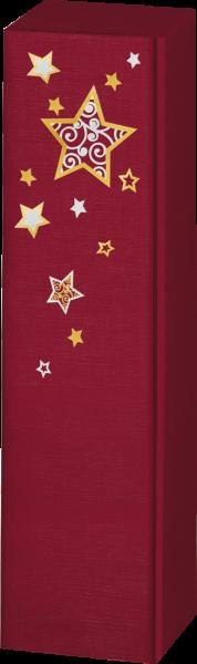 Präsentkarton LINO Sternentraum rot für 1 Flasche
