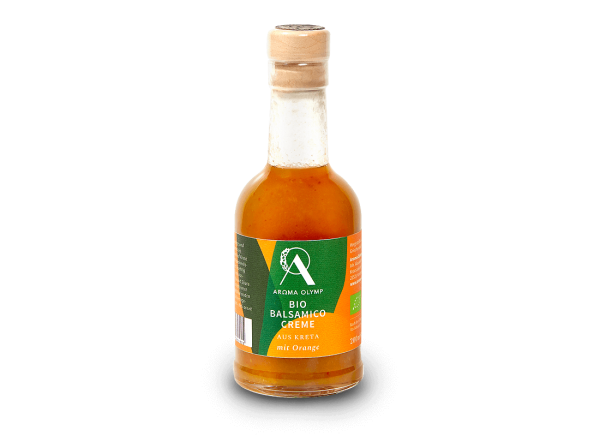 Aroma Olymp Bio-Balsamico Creme mit Orange 200 ml