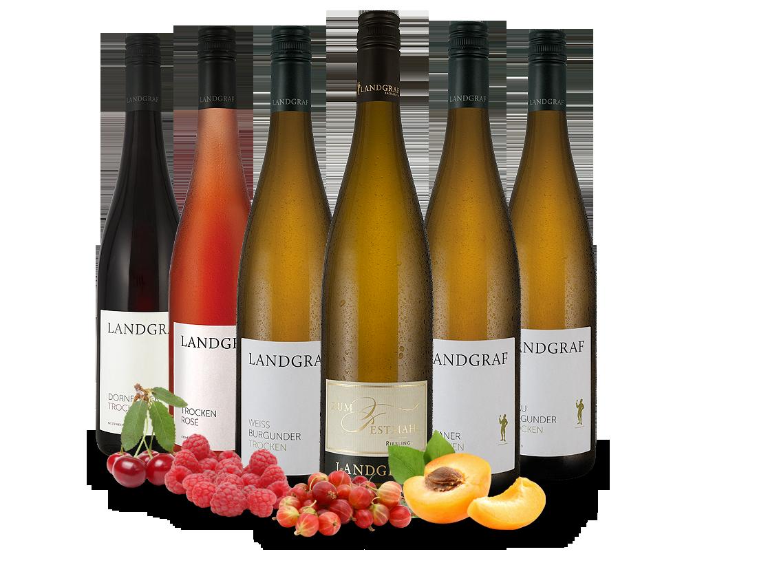 Kennenlernpaket Weingut Landgraf aus Rheinhesse...