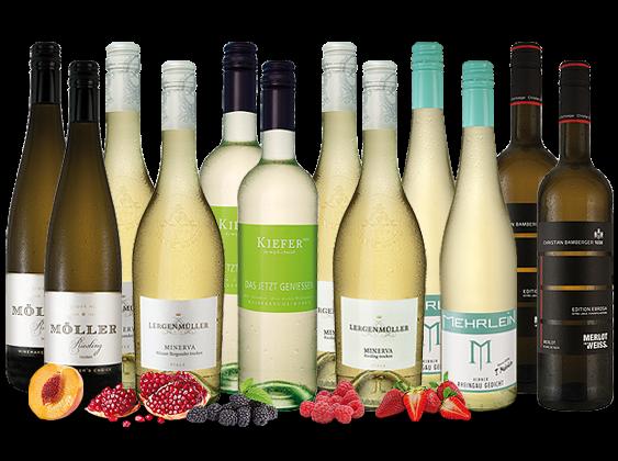 Das große Deutschlandpaket mit 12 Fl. Weißwein