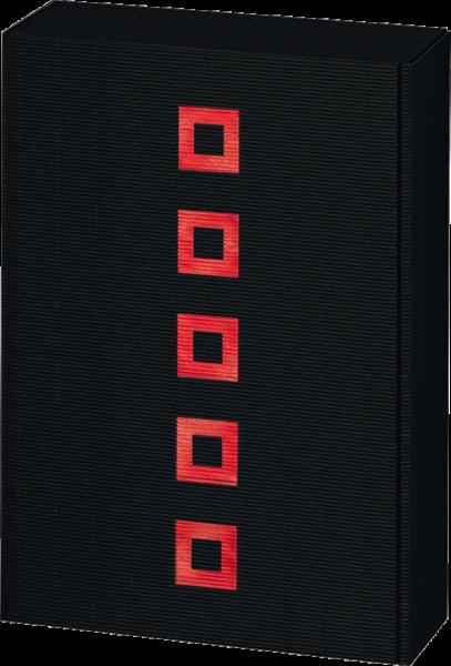 Präsentkarton Quadrat schwarz & rot für 3 Flaschen