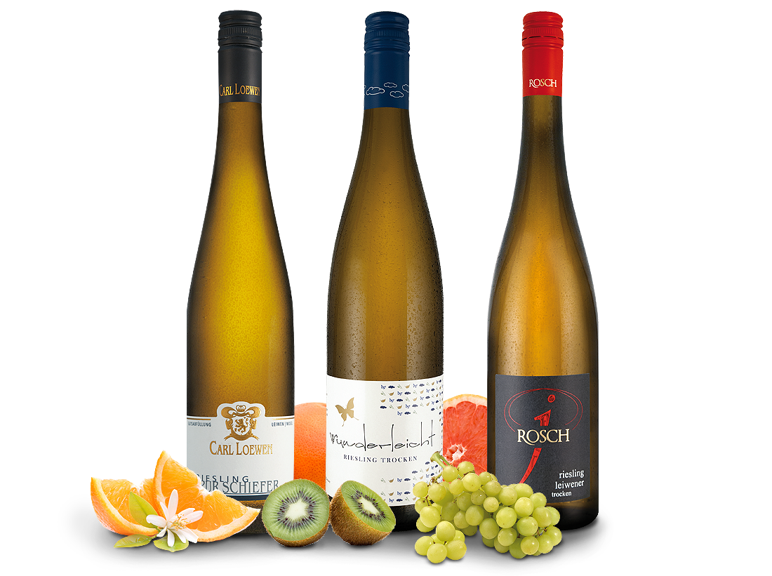 Mosel Riesling Wein-Trio - Edle Rieslinge im Probier-Trio8,88? pro l
