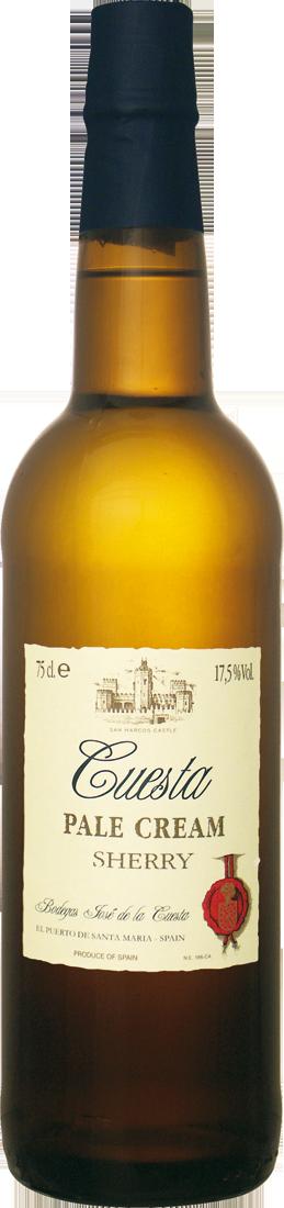 Weißwein Bodegas José de la Cuesta Sherry Pale Cream Jerez 11,32€ pro l
