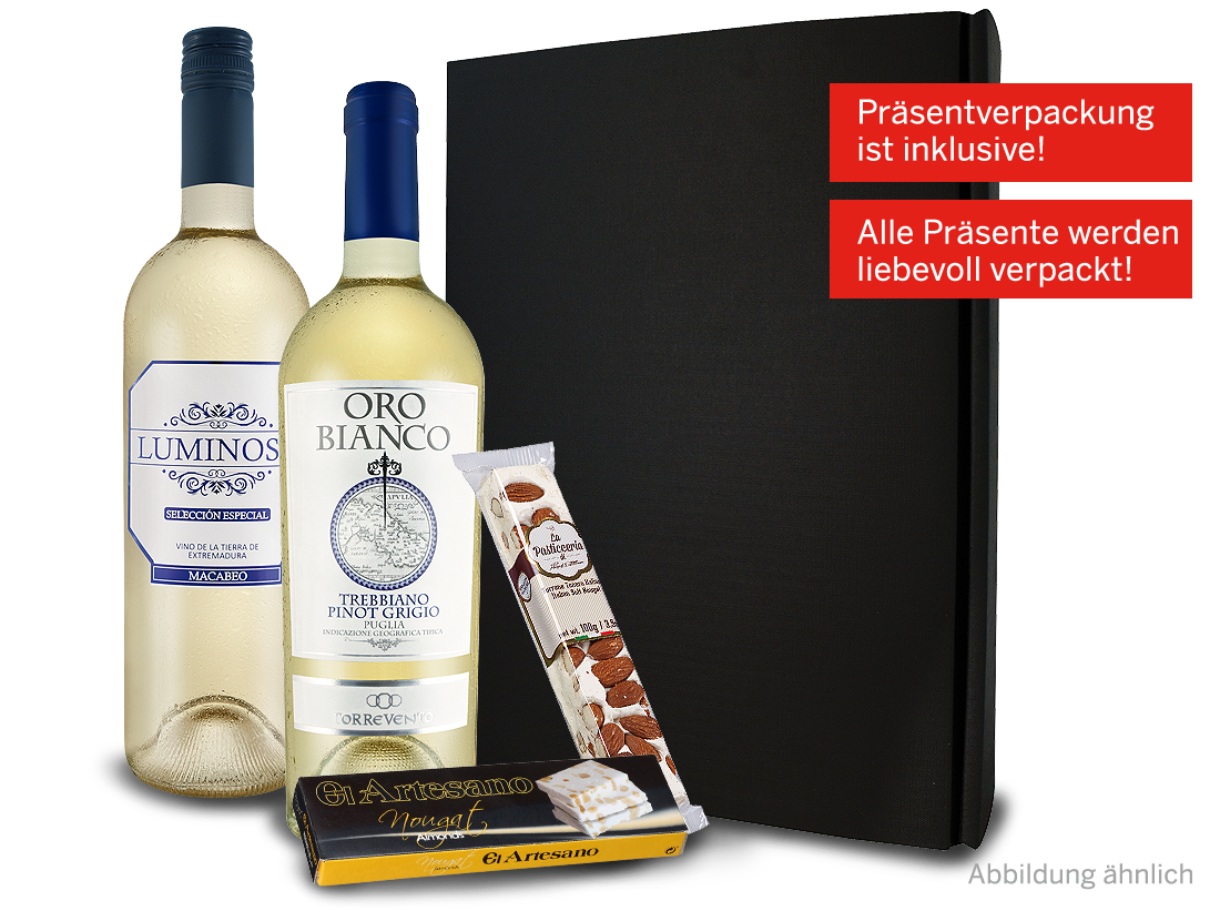 Weißwein Präsent Große Auszeit Weißes Gold