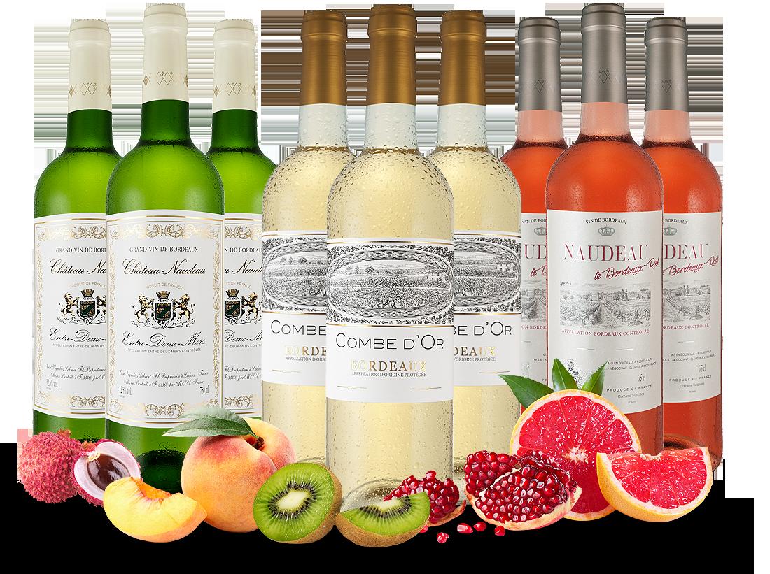 Unser Bordeaux-Sommer-Paket mit 9 Flaschen7,39? pro l