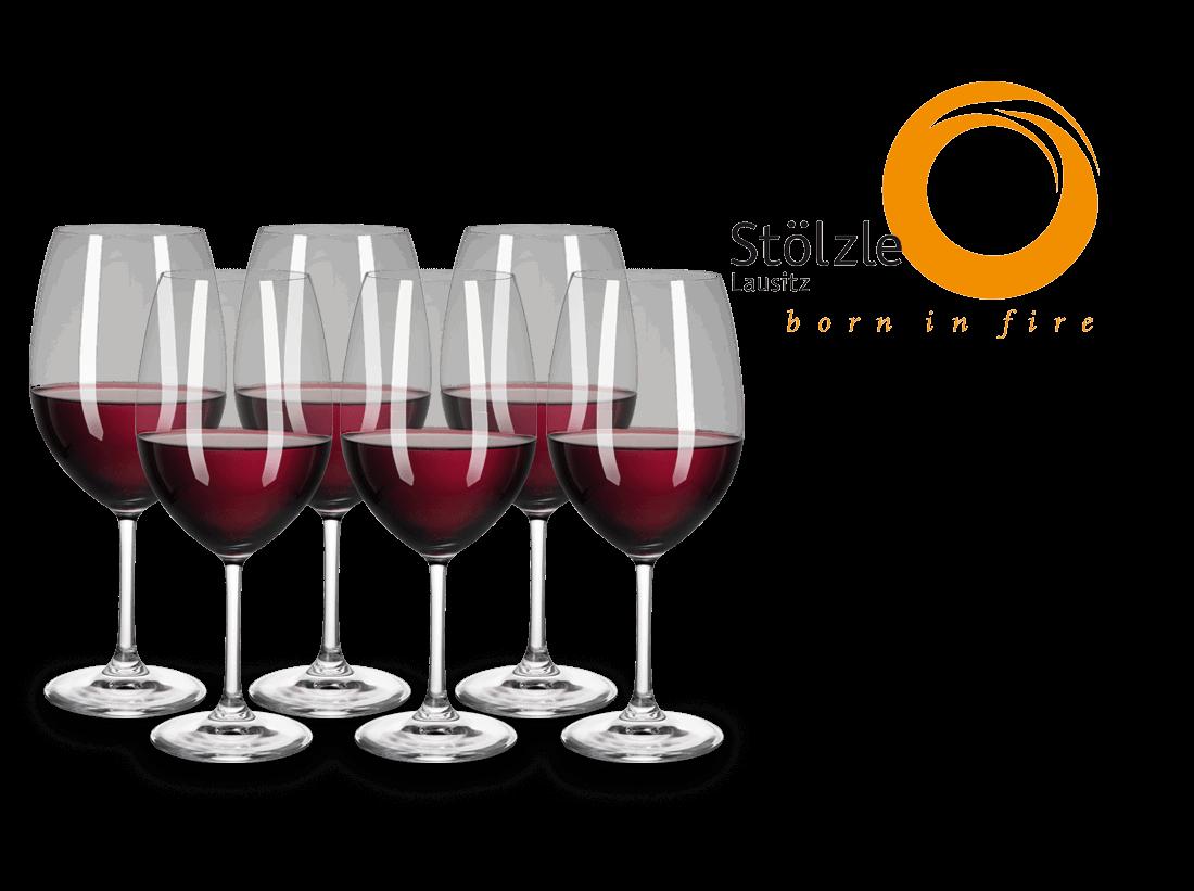 Stölzle Rotweinglas Magnum Bordeaux 6er Set Classic longlife