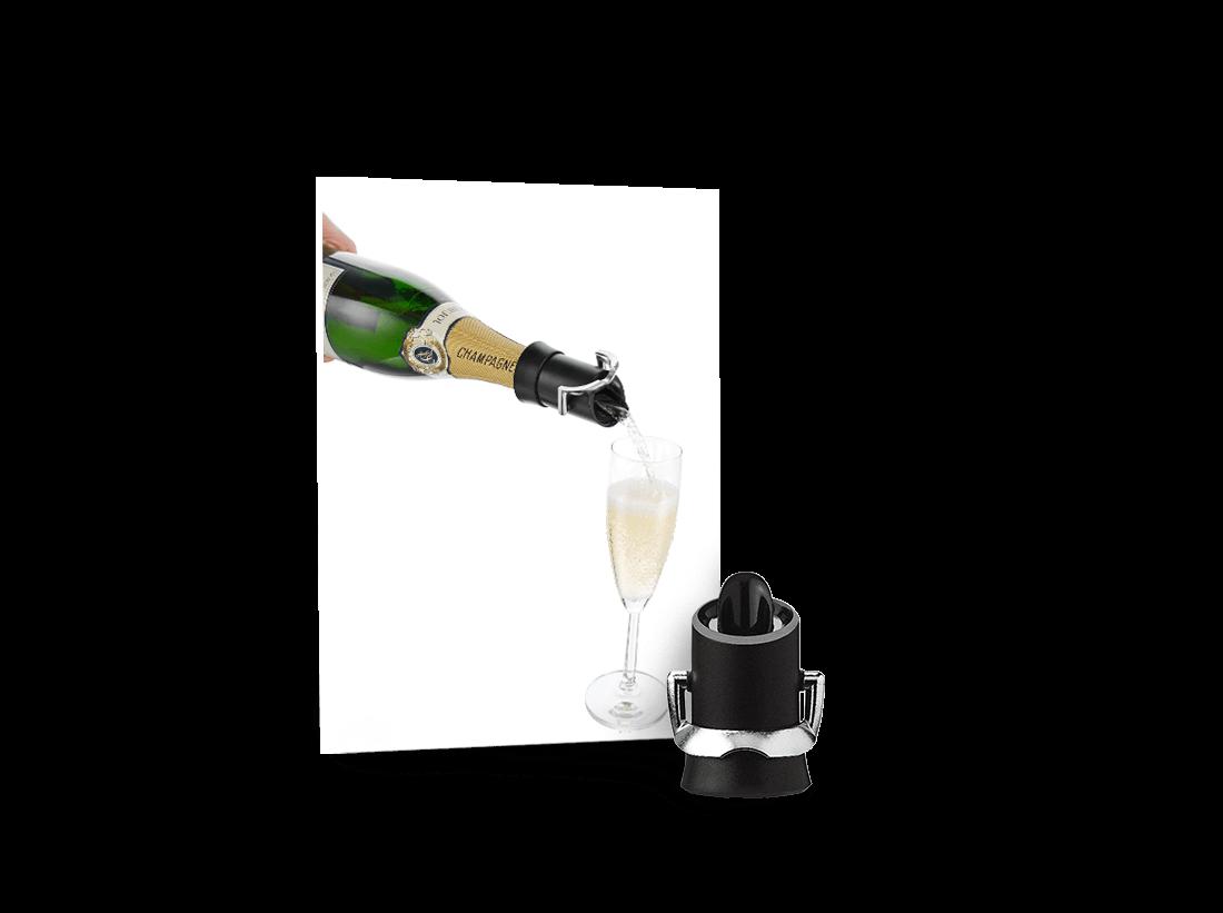 Vacu Vin Champagnerverschluss & Ausgießer