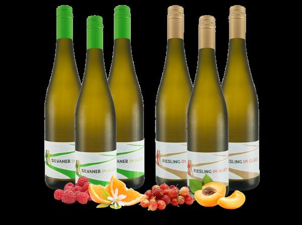 Vorteilspaket 6 Flaschen 'Im Glück' Riesling & Silvaner