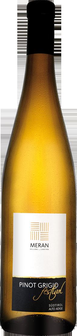 Weißwein Kellerei Meran Pinot Grigio Festival DOC Südtirol Südtirol 11,32? pro l