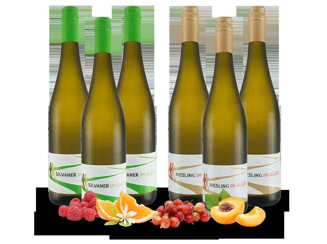Vorteilspaket 6 Flaschen Im Glück Riesling & Silvaner7,76? pro l