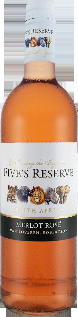 Roséwein Van Loveren Fives Reserve Merlot Rosé Western Cape 9,27? pro l