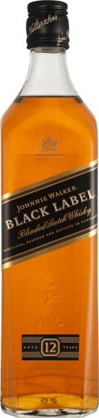 Johnnie Walker Black Label Whisky 40% vol. in Geschenkverpackung