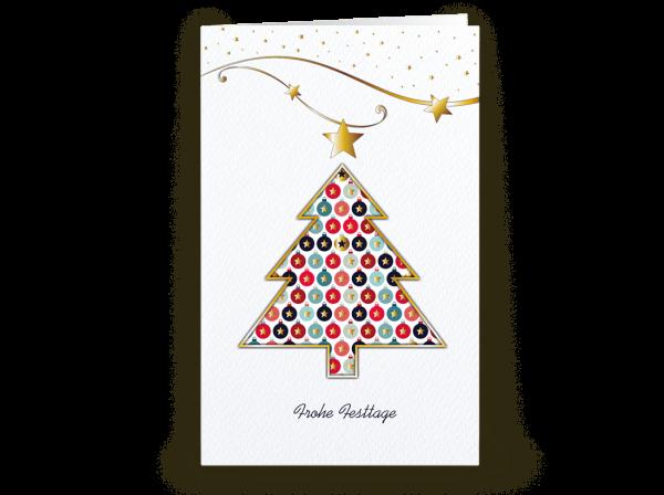 Grußkarte Christmas Colours