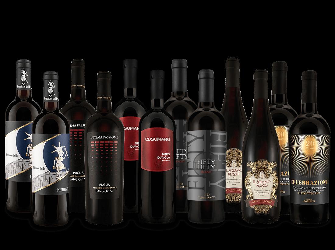 Italienisches Rotwein-Topseller-Probierpaket7,36€ pro l