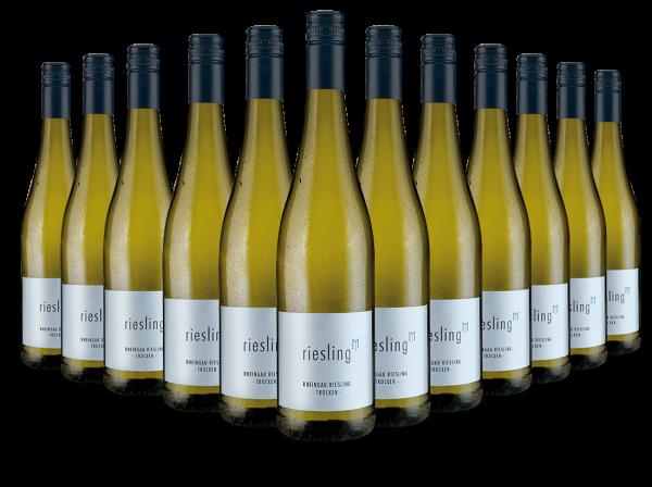 Vorteilspaket Mehrlein Rheingau Riesling hoch M mit 12 Flaschen