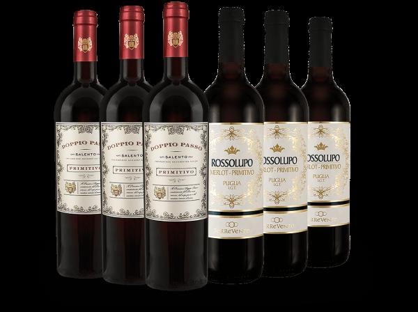 Probierpaket Doppio Passo und Rossolupo mit je 3 Flaschen (6x 0,75l)
