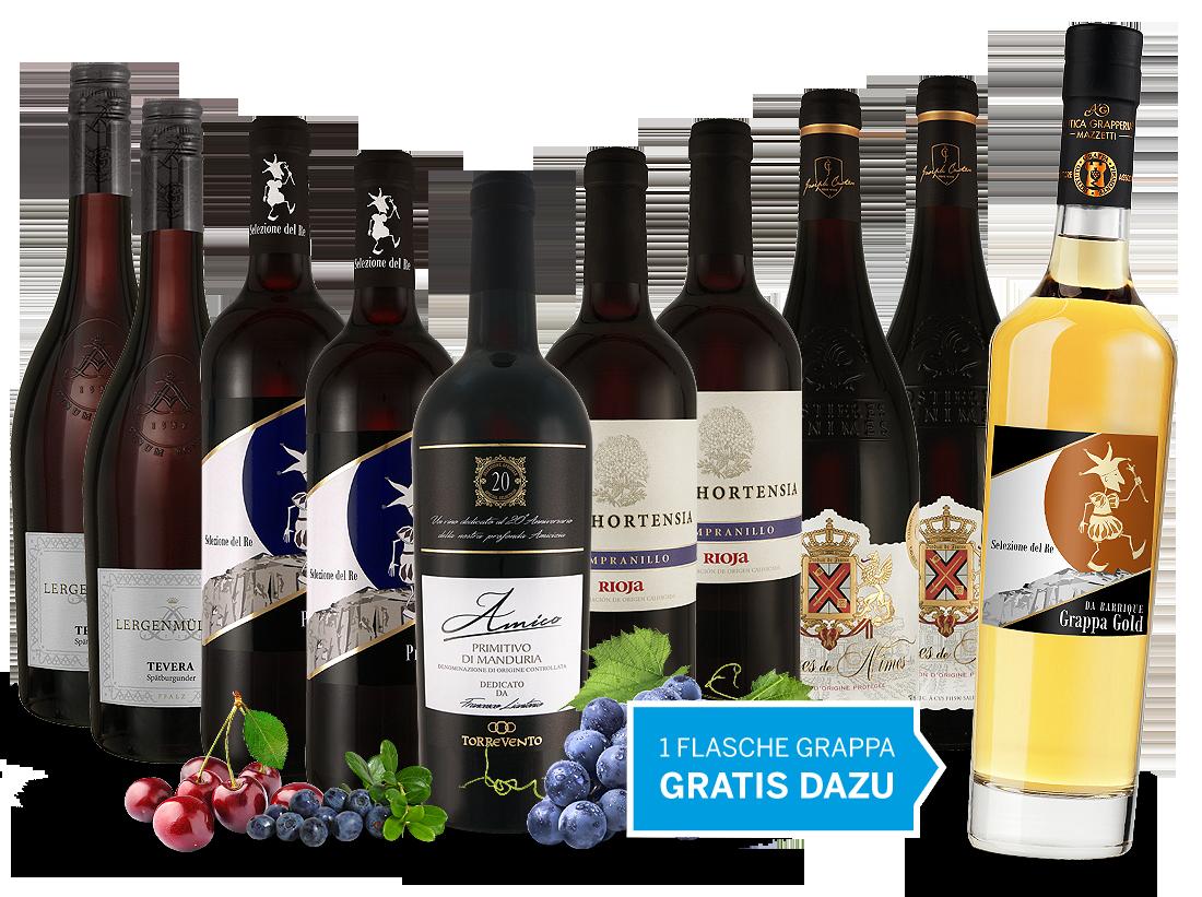 Vorteilspaket Happy Hour 2018 und 1 Flasche Grappa gratis10,37? pro l