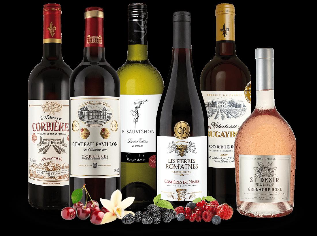 Bestseller-Paket Weine des Languedoc8,89€ pro l