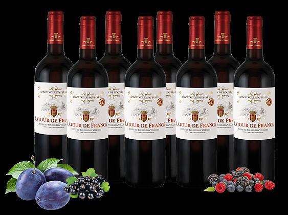 Probierpaket 8 Flaschen Domaine de Roubials Latour de France Côtes de Roussillon Villages AOP