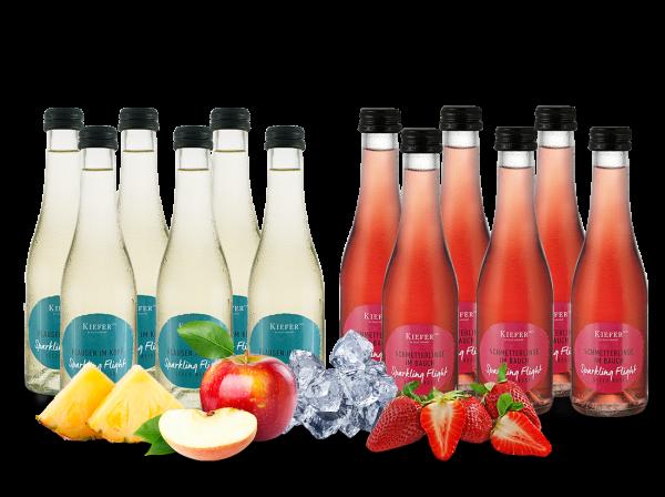 Vorteilspaket 12 Flaschen à 0,2l Kiefer Secco Sparkling Flight Weiß & Rosé