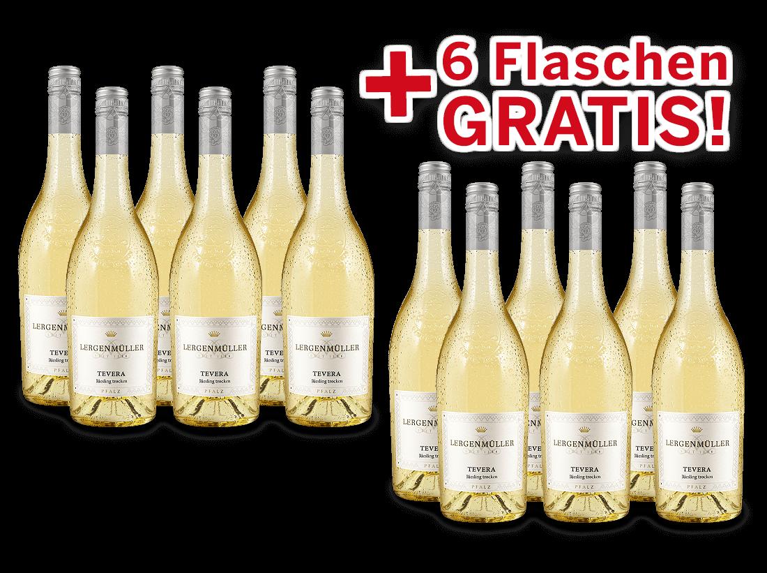 Vorteilspaket 12 für 6 Lergenmüller Riesling TEVERA8,89? pro l