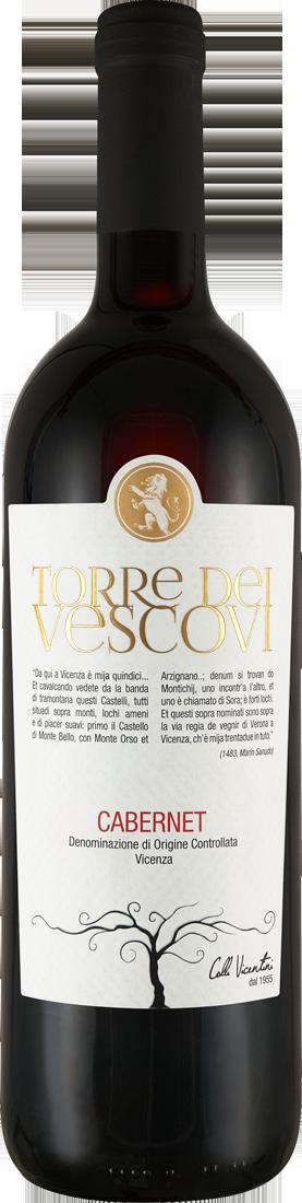 Rotwein Cantina Colli Vicentini Cabernet Sauvignon Torre dei Vescovi Vicenza DOC Venetien 7,99€ pro l