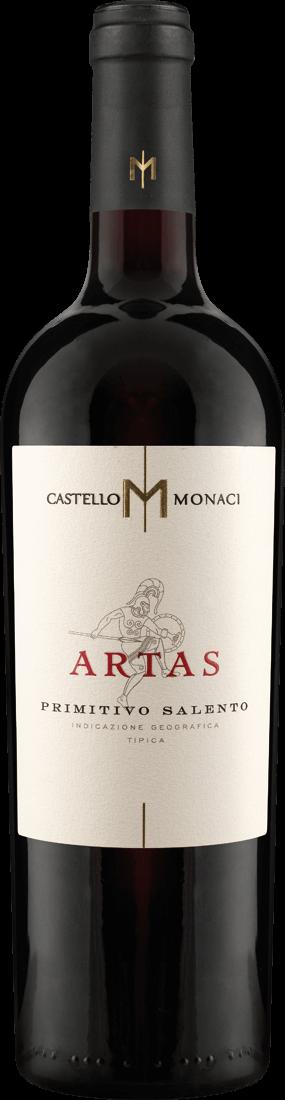 Rotwein Castello Monaci Artas Primitivo Salento IGT Apulien 25,32€ pro l