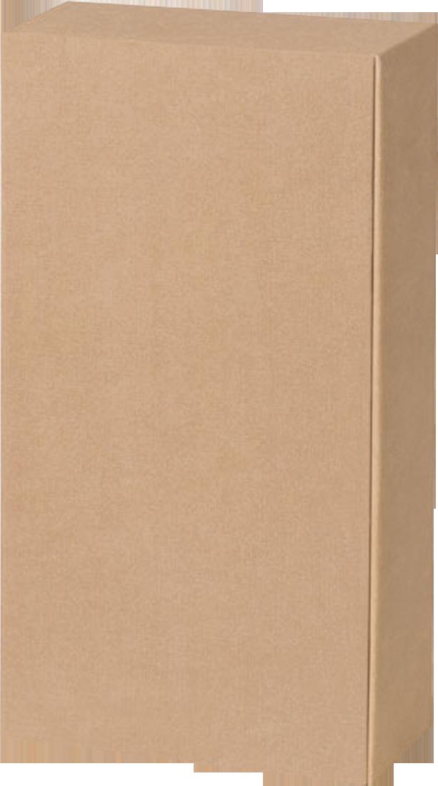 Präsentkarton Lino natur in Leinenoptik für 2 Flaschen