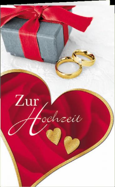 Grußkarte Hochzeit 'Zwei Herzen'