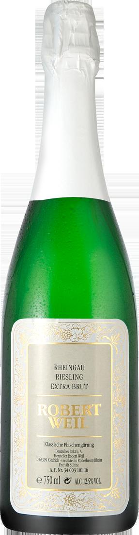 Weißwein Robert Weil Riesling Sekt Extra Brut Rheingau 26,53? pro l