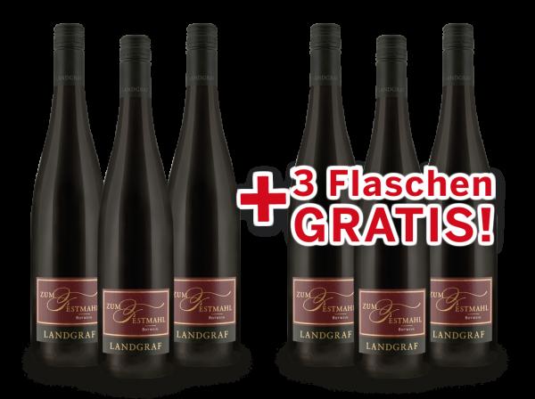 Vorteilspaket 6 für 3 Landgraf Rotwein 'Zum Festmahl'