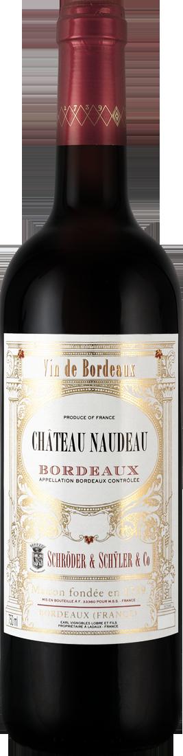 Rotwein Schröder & Schÿler Château Naudeau Bordeaux Rouge AOC Bordeaux 9,32€ pro l