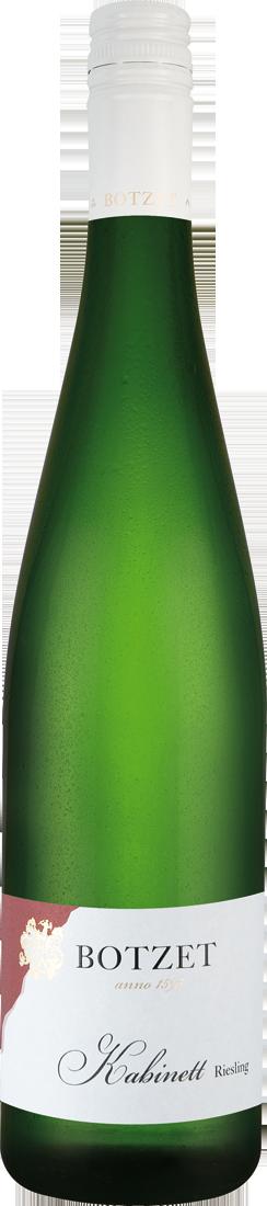 Weißwein Botzet Kabinett Riesling lieblich QbA Mosel 9,20€ pro l