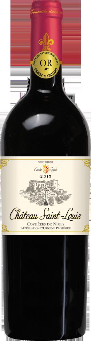 Rotwein Château Saint-Louis Cuvée Royale Costières de Nîmes AOP Rhône 7,99€ pro l